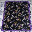 Baltimore Ravens Black Fleece Baby Pet Dog Lap Blanket
