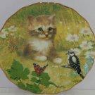 Kitten Collector Plate Fur-ever Friends Bird Butterflies Cat Bradford Exchange