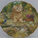 Kitten Collector Plate Flowers Butterflies Cat Whiskers Wonders Bradford Exchang