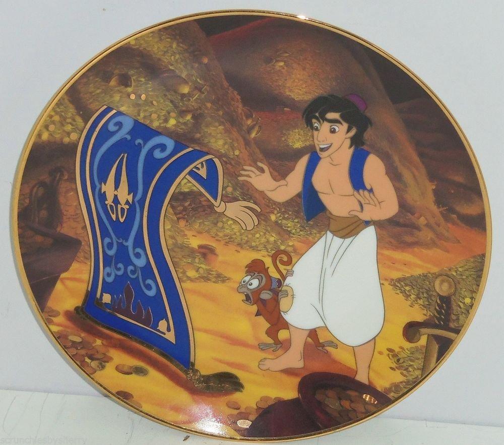 Disney Aladdin Magic Carpet Collector Plate Traveling Companions Bradford  Gift