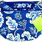 Vera Bradley Lizzy Blue Lagoon Purse Crossbody Shoulder Bag White NWTS