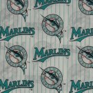 Floirda Marlins Fabric Cotton MLB Baseball Craft Quilt Out of Print Rare BTY