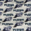 Tampa Bay Rays Fabric Cotton MLB Baseball Craft Quilt Out of Print Rare BTY