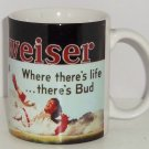 Budweiser Baseball Coffee Mug Cup Where There's Life There's Bud Anheuser Busch