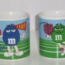 M&Ms Coffee Mug Candy Green Cheerleader Blue Fan Sport Ceramic Cup M&M Galerie