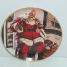 Coca Cola Collector Plate Coke Santa Pause Christmas Clause Franklin Mint Retire