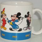 Disney Mickey Mouse Through The Years Coffee Mug Steamboat Wille 1928-1990