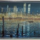 New York World Trade Center Twin Towers Unforgettable Collector Plate Bradford