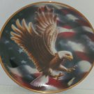American Eagle Collector Plate Bird Flag Franklin Mint Collection Retired