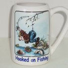 Fishing Stein Mug Man Hooked Pants Coffee Cup White Gary Patterson Clay Gift