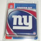 New York Giants Coasters 4 Pack Set NFL Football Drink