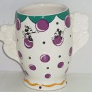 Disney Mickey Minnie Mouse Vase Pfaltzgraff Mickey Co Purple Balloons Rare