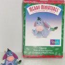 Disney Eeyore Hallmark Merry Miniatures Ornament 1999 Vintage MIB Pooh