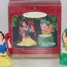 2 Disney Snow White Dopey Hallmark Ornament Anniverary Edition 1997 Dwarf MIB