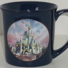 Walt Disney World Cindereela Castle Coffee Mug Happiest Celebration Navy Blue