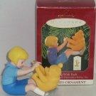 Disney Winnie Pooh Christopher Robin Hallmark Ornament Playing 1999 Vintage MIB
