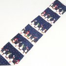 Penguins Santa Hats Christmas Mens Neck Tie Necktie Hallmark Yule Tie Greetings