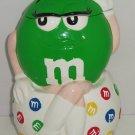 M&M's M&M Green Gal Cookie Jar I melt for No One Candy  2001 Benjamin Medwin