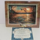 Terry Redlin Tranquil Retreats Plate Collector Hazy Afternoon Sunset Bird Lake
