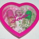 Loves Baby Soft Cologne Mist Rain Forest Lip Gloss Heart Box Set Jane Dana
