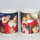 Coke Coca Cola Christmas Santa Claus Holiday Portaits Coffee Mug Stoneware Lot of 4