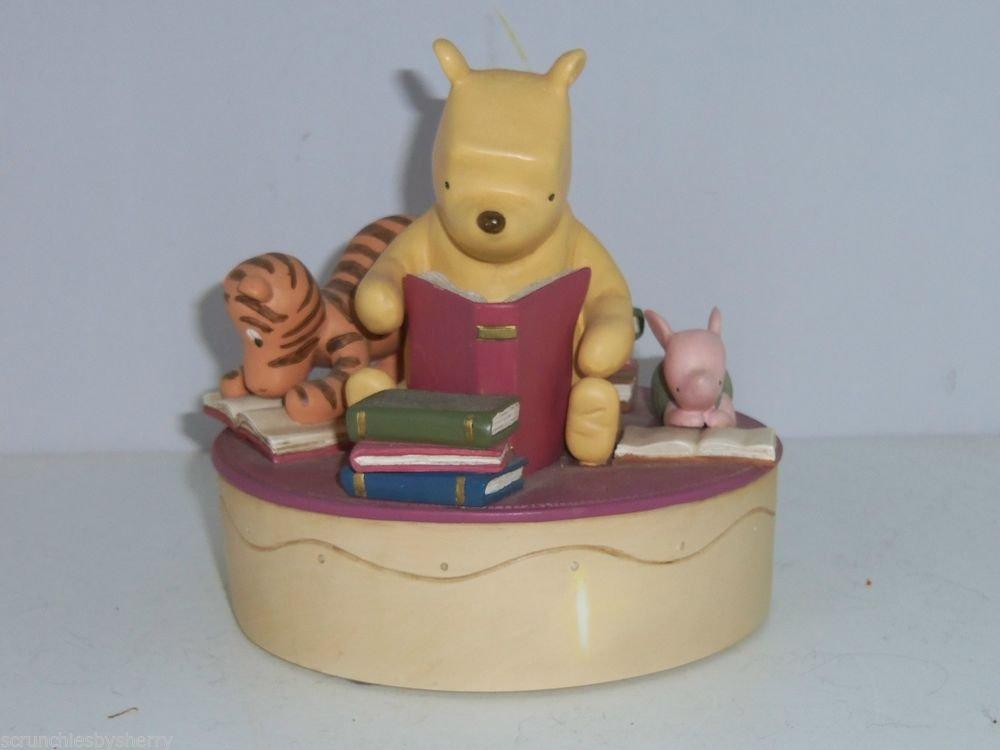 Disney Music Box Winnie Pooh Tigger Piglet 1963 Wonderland Reading Books Gift