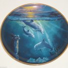 Legend of the Dolphins Collector Plates Franklin Mint Ocean Water Blue Retired