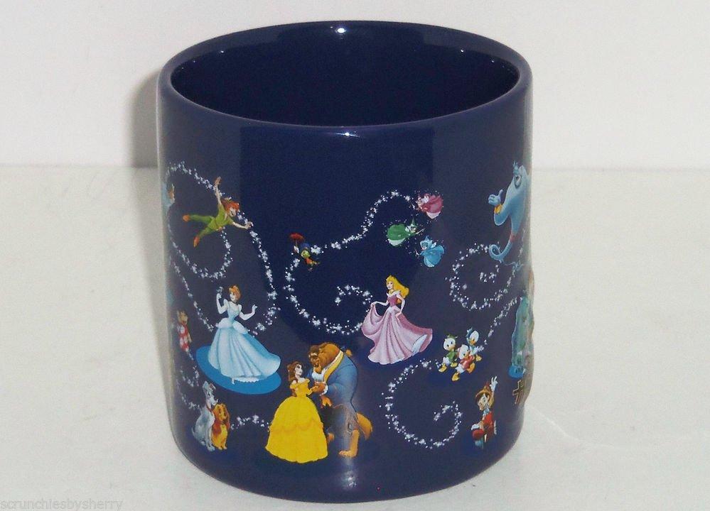 Disney Coffee Mug Belle Cinderella Cars Peter Pan Hollywood StudioTheme Parks