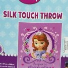 Disney Sofia The First Properly Princess Throw Blanket Silk Touch New
