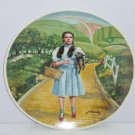 Wizard Oz Dorothy Movie Collector Plate Yellow Brick Over the Rainbow Knowles