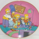 Simpsons Collector Plate Family for the 90s Bart Lisa Marge Homer Franklin Mint