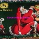 John Deere Blanket Santa Christmas Hand Tied Green Tractors Fleece Throw