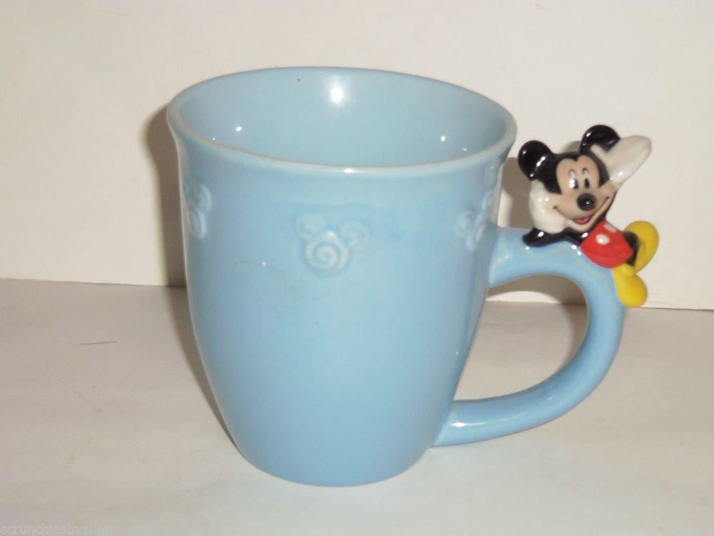 Disney Store Mickey Mouse Coffee Mug Figurine Lounging On