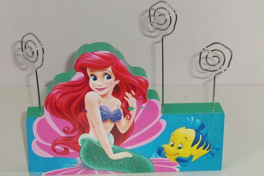 Disney Princess Ariel Mermaid Photo Holder Blue Green Glitter