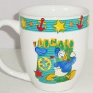 Disney Donald Duck Coffee Mug Tea Soup Hot Coca Cup FTD Anchors Stars