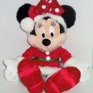 "Disney Minnie Mouse Mrs. Santa Dress Plush Toy 19"" NWTS Theme Parks New"
