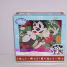 4 Disney Store Christmas Mickey Minnie Mouse Snowman Dessert Plates New