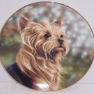 Yorkshire Plate Terrier Anticipation Collector Danbury Yorkie Dog Pet Retired