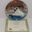 Siamese Cat Collector Plate Slumbering Kitty Daphne Baxter Franklin Mint Retired