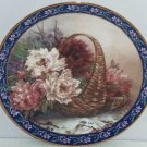 Peonies Collector Plate Lena Liu Basket Bouquets Flower Floral Retired Vintage