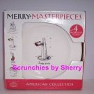 4 Merry Masterpieces Plates Dessert Porcelain 1st Edition Retired Christmas