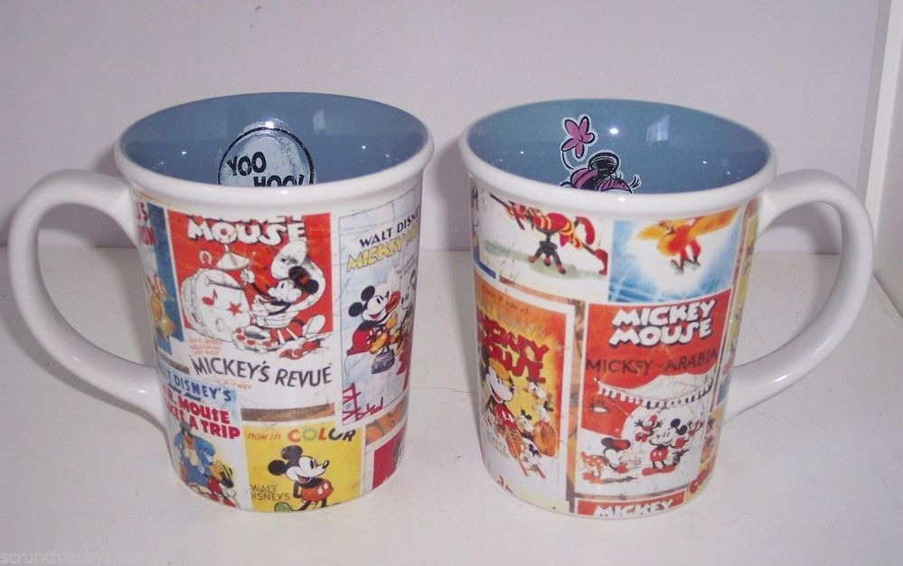 Disney Store Minnie Mickey Nostalgia Coffee Mug Posters New