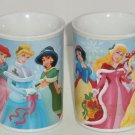 Disney Princess Coffee Mug Cinderella Belle Belle Ariel Snow White Jasmine Lot 2