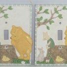 2 Disney Winnie Pooh Piglet Light Switchplate Kids Room Wall Decor Single