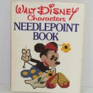 Walt Disney Characters Needlepoint Book Craft Mickey Vintage 1976 First Edition