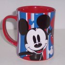 Disney Store Mickey Mouse Coffee Mug Red White Blue New