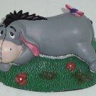 Walt Disney Parks Eeyore Figurine Laying Grass Relaxing Winnie Pooh