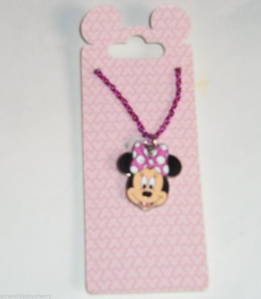 Disney Minnie Mouse Necklace Kids Jewelry Theme Parks New Carded
