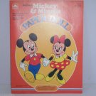 Walt Disney Productions Paper Dolls 1983 Mickey & Minnie Mouse Uncut Vintage