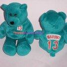 Miami Dolphins Dan Marino Bean Bag Bear NFL Football Limited Treasures Vinatge